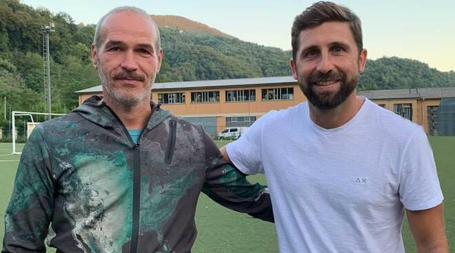 Boris Stagnaro e Simone Basso: si passano il testimone alla Lavagnese.