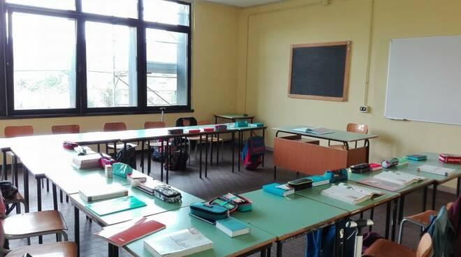 classe, scuola, banchi, alunni