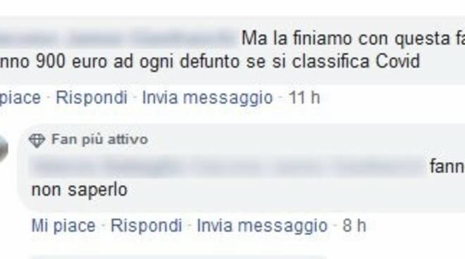 """Commenti sul social media Facebook in merito alle morti da """"Covid-19"""""""