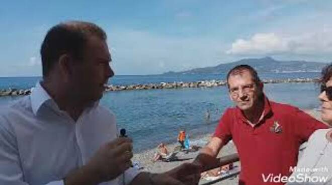 Fabrizio Brignole e Carla Bo a Lavagna