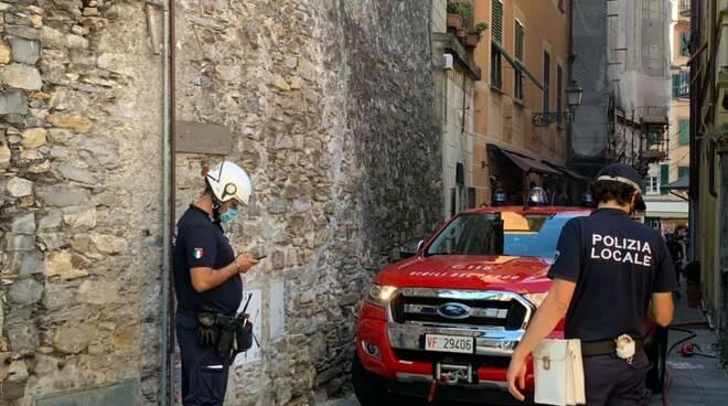 Guasto elettrico in centro a Rapallo.