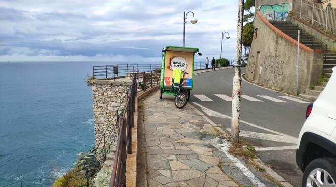 Il triciclo che a Recco aiuta nella Raccolta Differenziata.