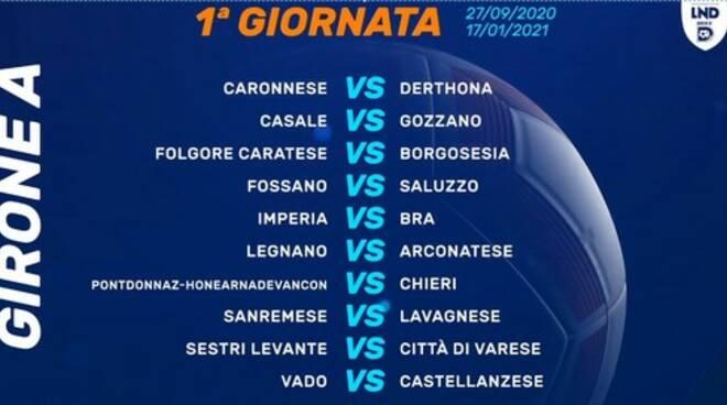 La prima giornata del campionato di Serie D.