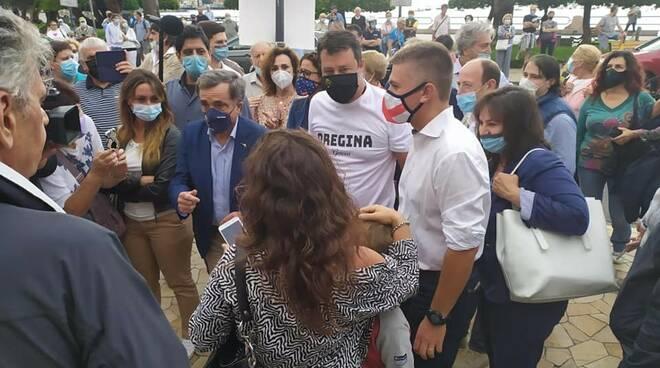Matteo Salvini a Rapallo.