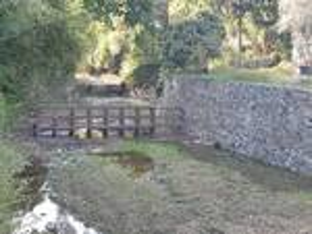 """Una """"briglia"""" di un torrente di Santa Margherita Ligure dopo gli interventi di pulizia del Comune."""