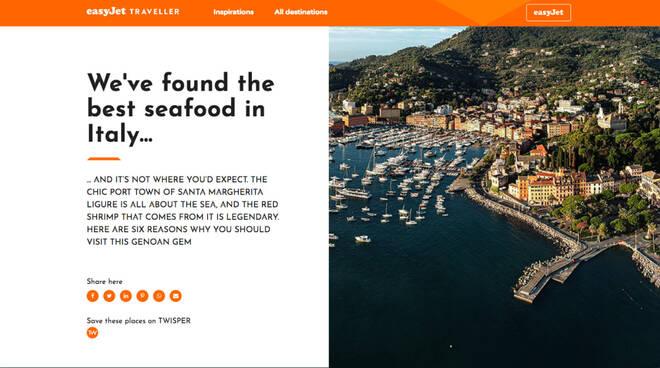 Campagna di attrazione turistica a Santa Margherita Ligure da parte di Easyjet.