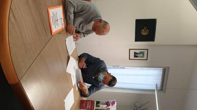 Firma del protocollo d'intesa nel comune di Casarza Ligure.