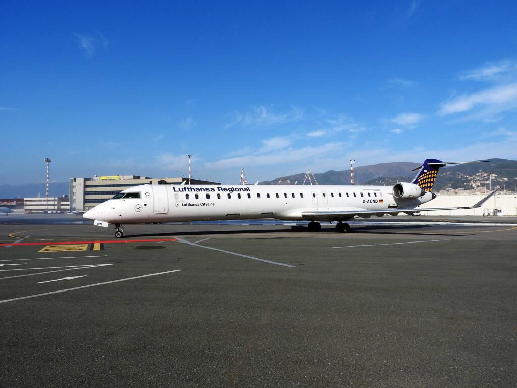 Lufthansa, aeroporto, genova