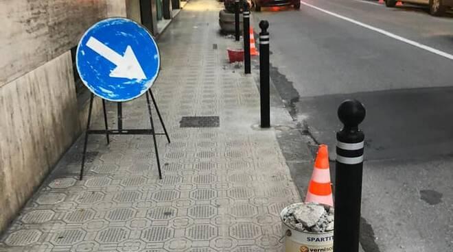 via della libertà, rapallo, marciapiede (ph carlo bagnasco)