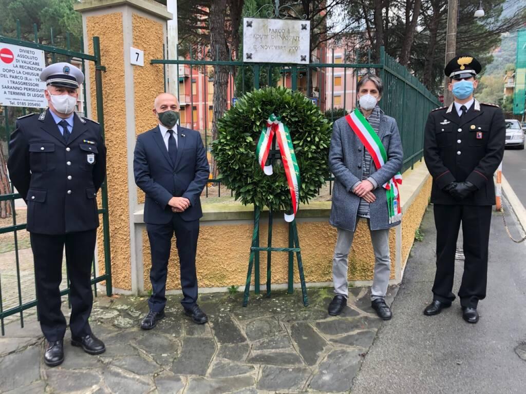 Commemorazione dei caduti di Nassiriya a Santa Margherita Ligure.