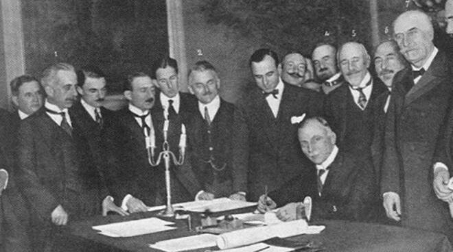 """Firma del """"Trattato di Rapallo"""""""