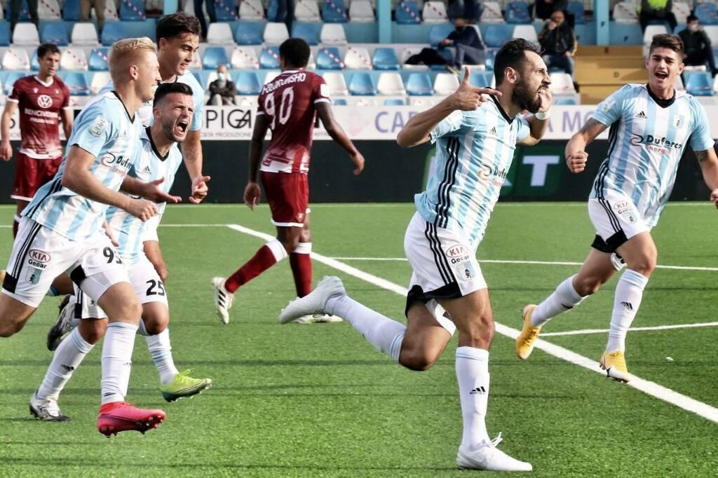 Il gol realizzato su rigore da Matteo Mancosu contro il Brescia.