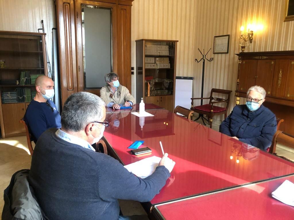 L'incontro tra i rappresentati di Asl 4 e Giuseppe Corticelli a Palazzo Bianco.