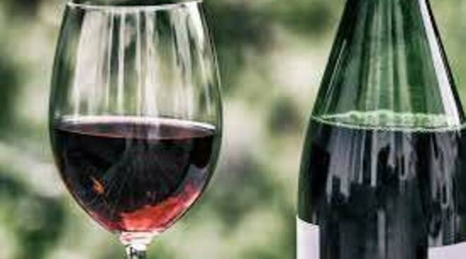 vino, bottiglia, calici, bicchiere