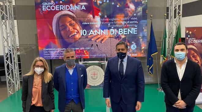 EcoEridiana presenta in Regione Liguria il suo piano di donazioni sotto le festività del Natale.
