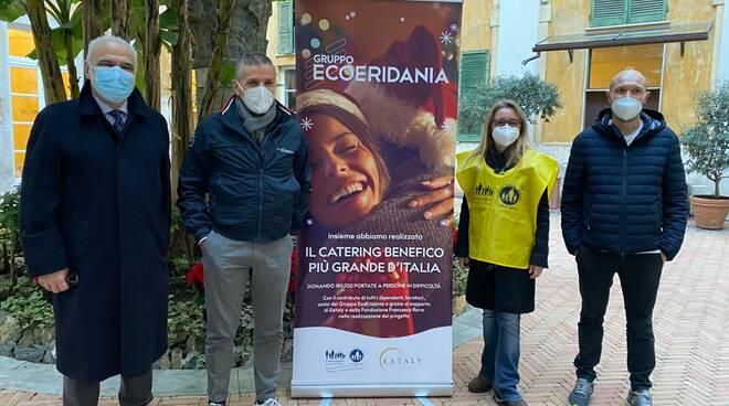 Il catering di EcoEridiana ai meno fortunati.