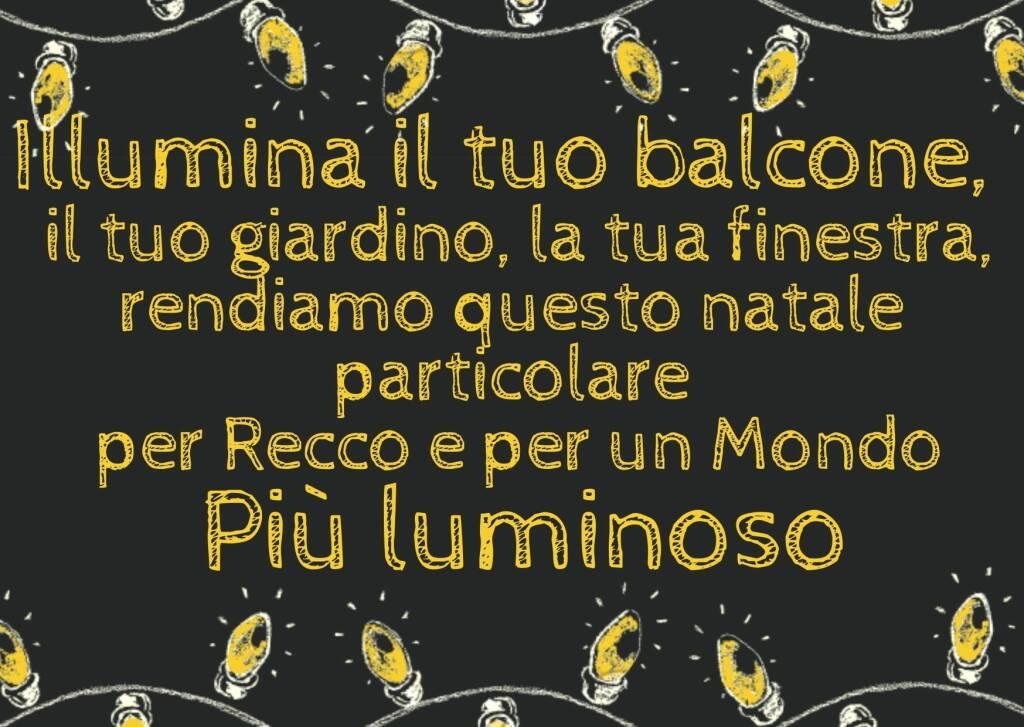 """""""Illumina il tuo balcone"""", l'iniziativa della Pro Loco Recco."""