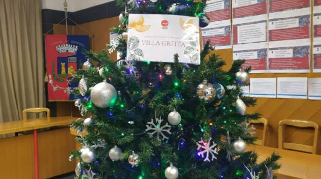 L'albero di Natale nel comune di Cogorno.