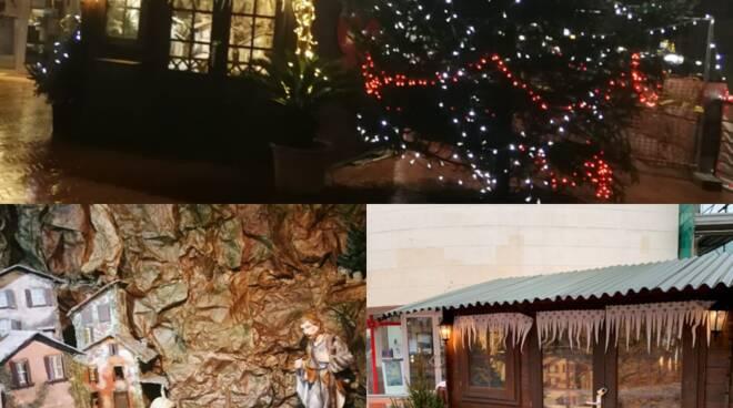 La casetta di Babbo Natale presso la Pro Loco di Recco.