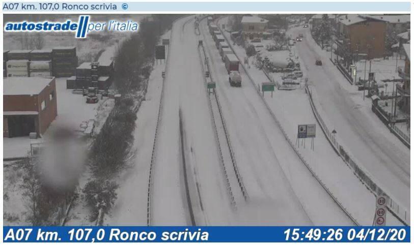 neve, autostrada, a7