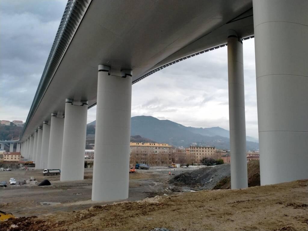 pile, ponte genova san giorgio, viadotto, genova