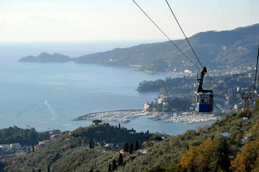 Vista dalla funivia di Rapallo.