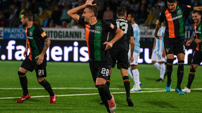 """Alessandro """"Lo Squalo"""" Capello attaccante del Venezia."""