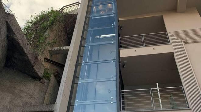 ascensore via cavour/ via sessarego, bogliasco