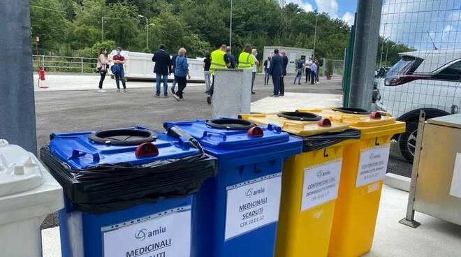 Centro raccolta rifiuti a Recco.