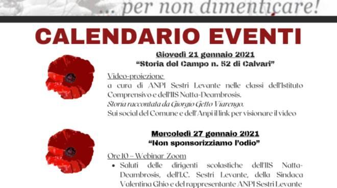 Giornata della Memoria a Sestri Levante.