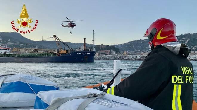 Incidente su una nave a Santa Margherita