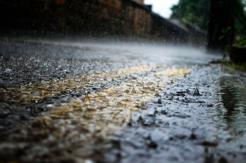 pioggia, strada, maltempo