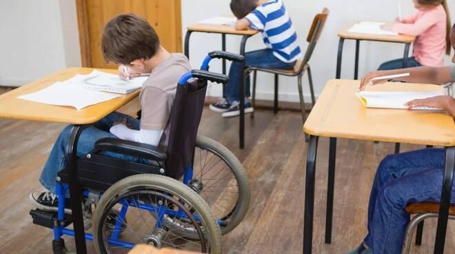 Alunni con disabilità a scuola.