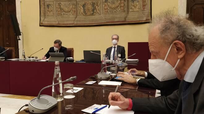 Gherardo Colombo presidente di Ue.Coop. dalla parte di Mario Draghi.