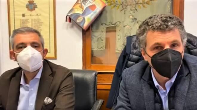 Il sindaco di Rapallo Carlo Bagnasco e Salvatore Alongi.