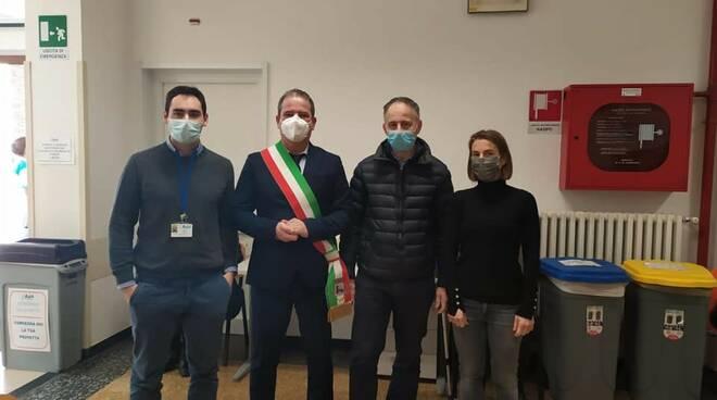 Inaugurato il centro vaccini della Fontanabuona all'Ospedaletto di Cicagna.