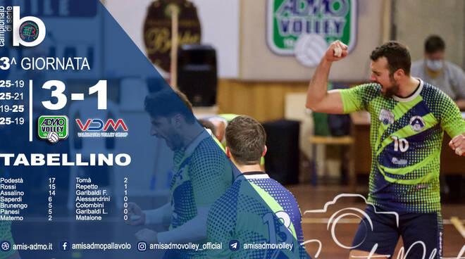 Tabellino Amis Admo Volley
