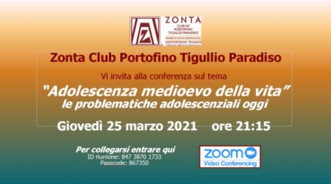 """Club Zonta organizza su Zoom """"L'adolescenza, il medioevo della vita"""""""