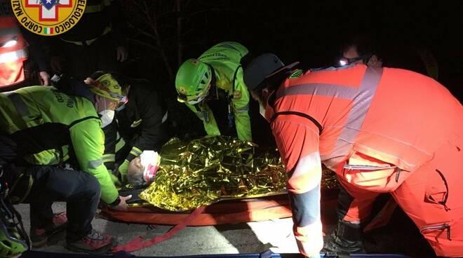 Il Soccorso Alpino in azione a Moneglia: salvato un uomo classe '38 disperso in un rivo.
