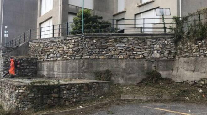 L'area dell'ex ospedale di Camogli