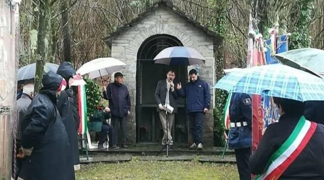 La cerimonia commemorativa dell'Eccidio delle Paie a San Colombano Certenoli