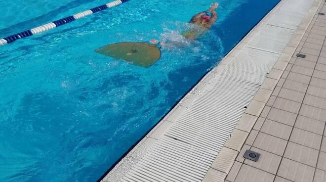 """La sammargheritese Ambrosetti protagonista nel """"nuoto pinnato"""" agli internazionali di Lignano Sabbiadoro."""