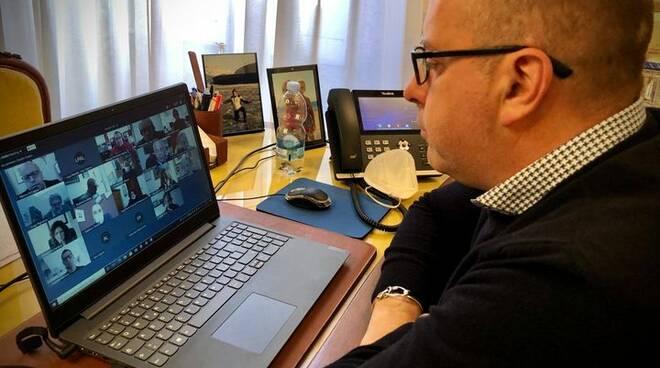 Marco Di Capua in videoconferenza