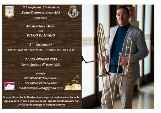 Masterclasse per trombone dell'orchestra Val d'Aveto con Diego Di Mario.