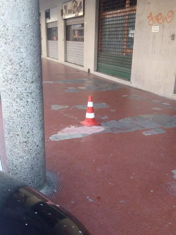 Pavimento di Viale Roma a Sestri Levante
