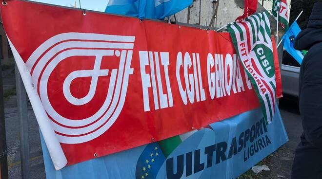 sciopero Amazon a Genova Campi