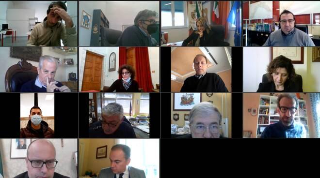 sindaci di anci liguria in videoconferenza