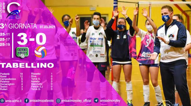 Tabellino vittoria Amis Admo Volley Femminile