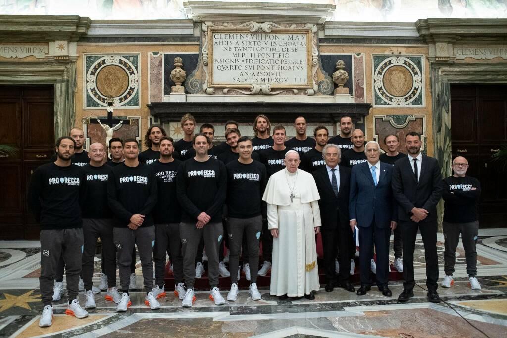 Pro Recco dal Papa Credit: Vatican Media