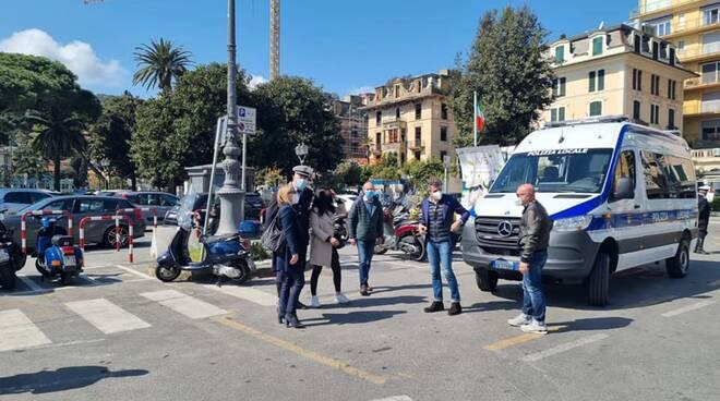 ufficio mobile, polizia locale, rapallo